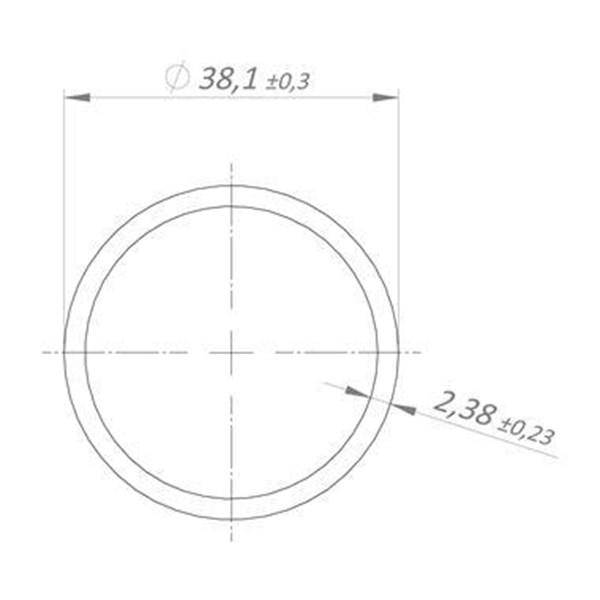 "Tubo Redondo de Alumínio de 1. 1/2"" x 3. 32"" | 3M | Valor da Barra"