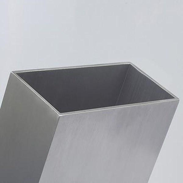 """Tubo Retangular de Alumínio de 4"""" x 2"""" x 1,7mm   50cm   Pacote com 3 Unidades"""