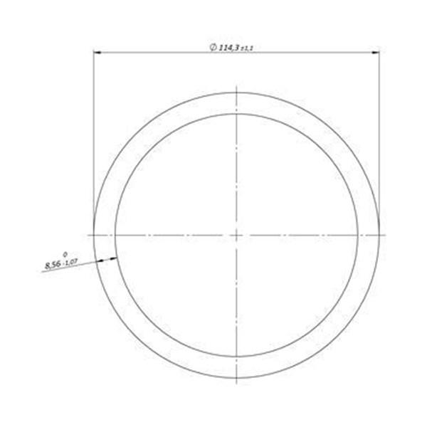 "Tubo Schedule de Alumínio 4"" x 8,56mm | 3M | Valor da Barra"